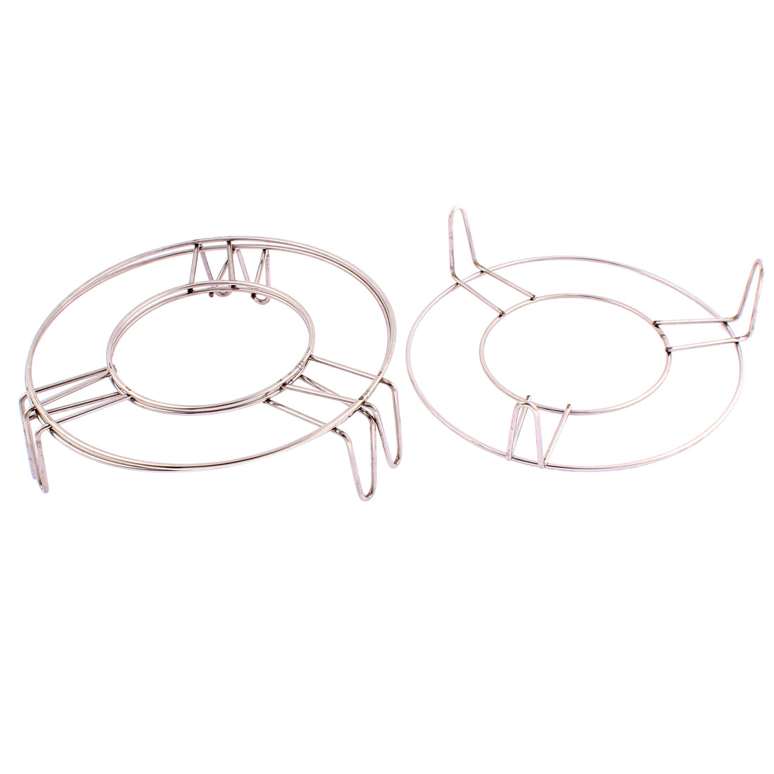 Stainless Steel 3 Legs Food Steaming Rack Stand 7 Inch x 2 Inch 3 Pcs