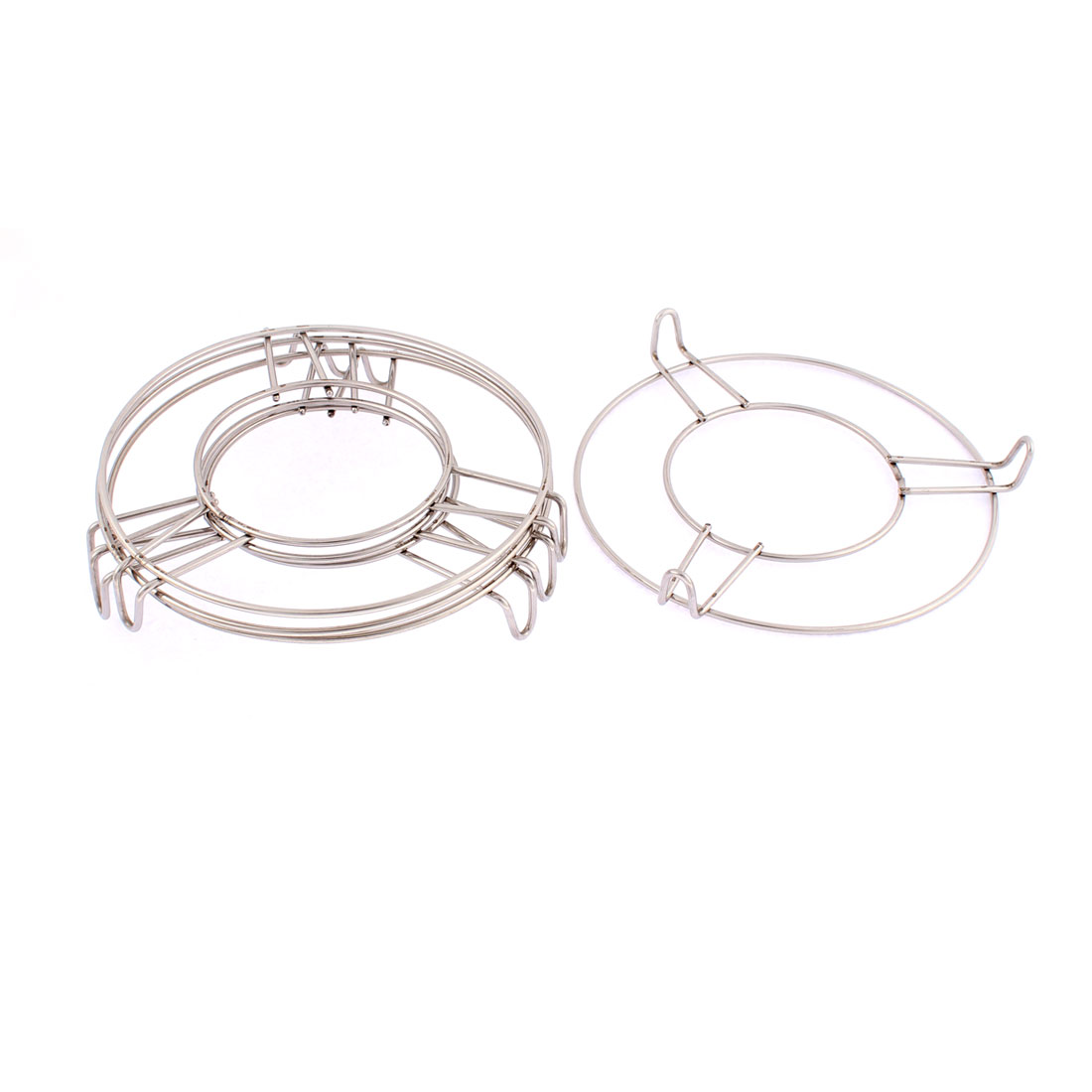 Stainless Steel Round Food Steaming Rack Stand 6 Inch x 1 Inch 4 Pcs