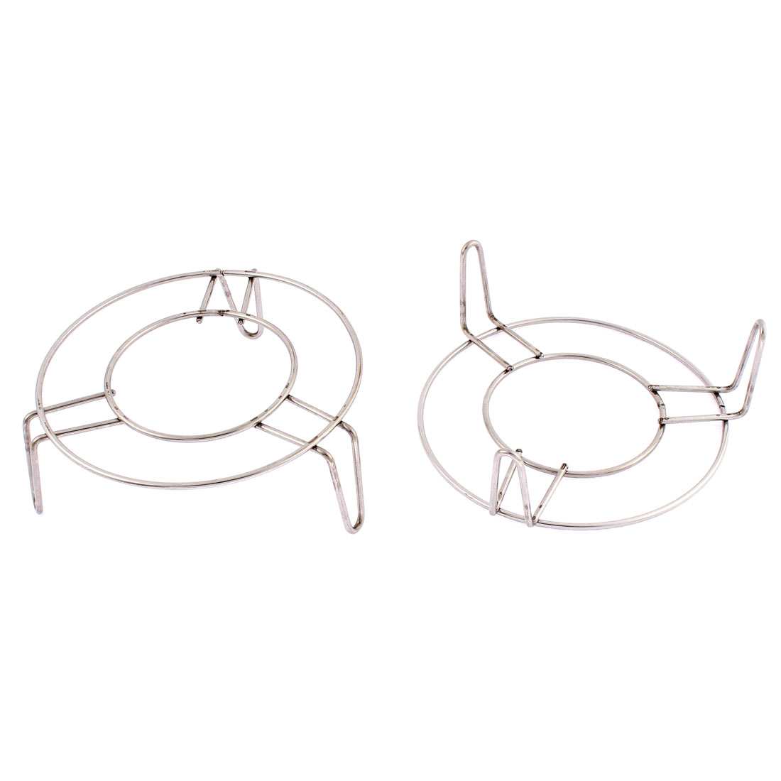 Stainless Steel Round Steaming Rack Stand 5 Inch x 2 Inch 2 Pcs