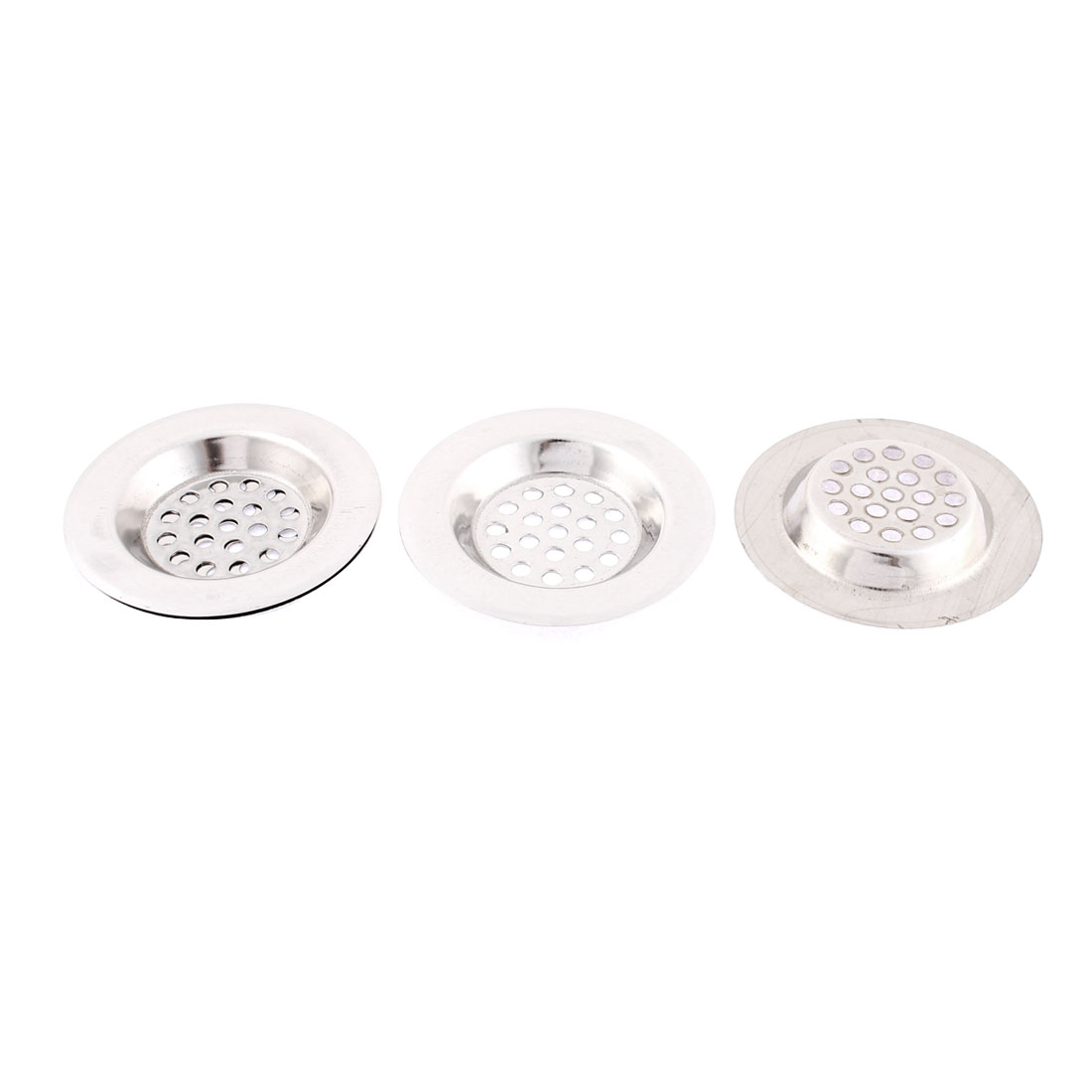 Bathroom Stainless Steel Sink Strainer Drainer Filter Stopper 65mm Dia 4 Pcs