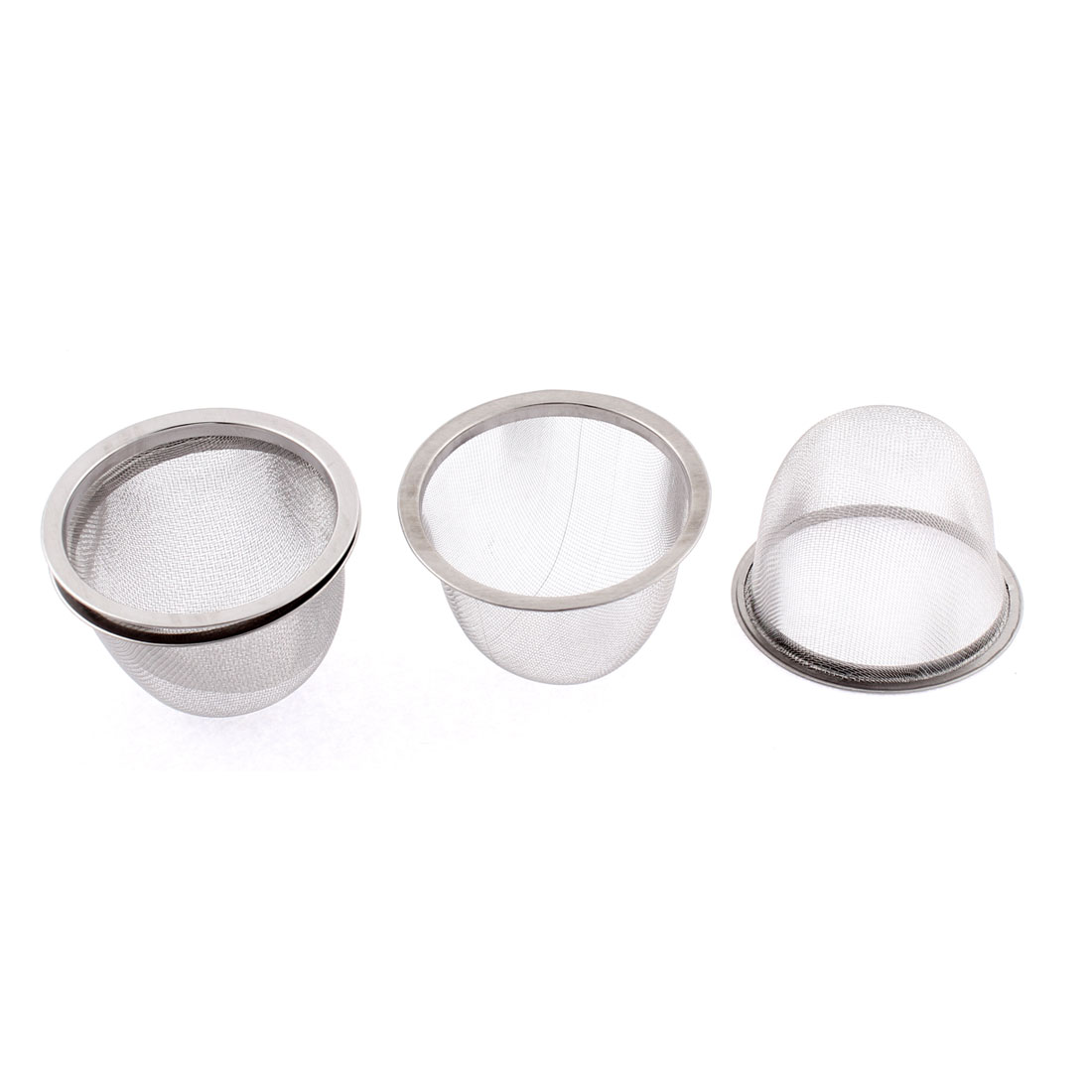70mm Dia Stainless Steel Wire Mesh Tea Infuser Strainer Filter 4 Pcs