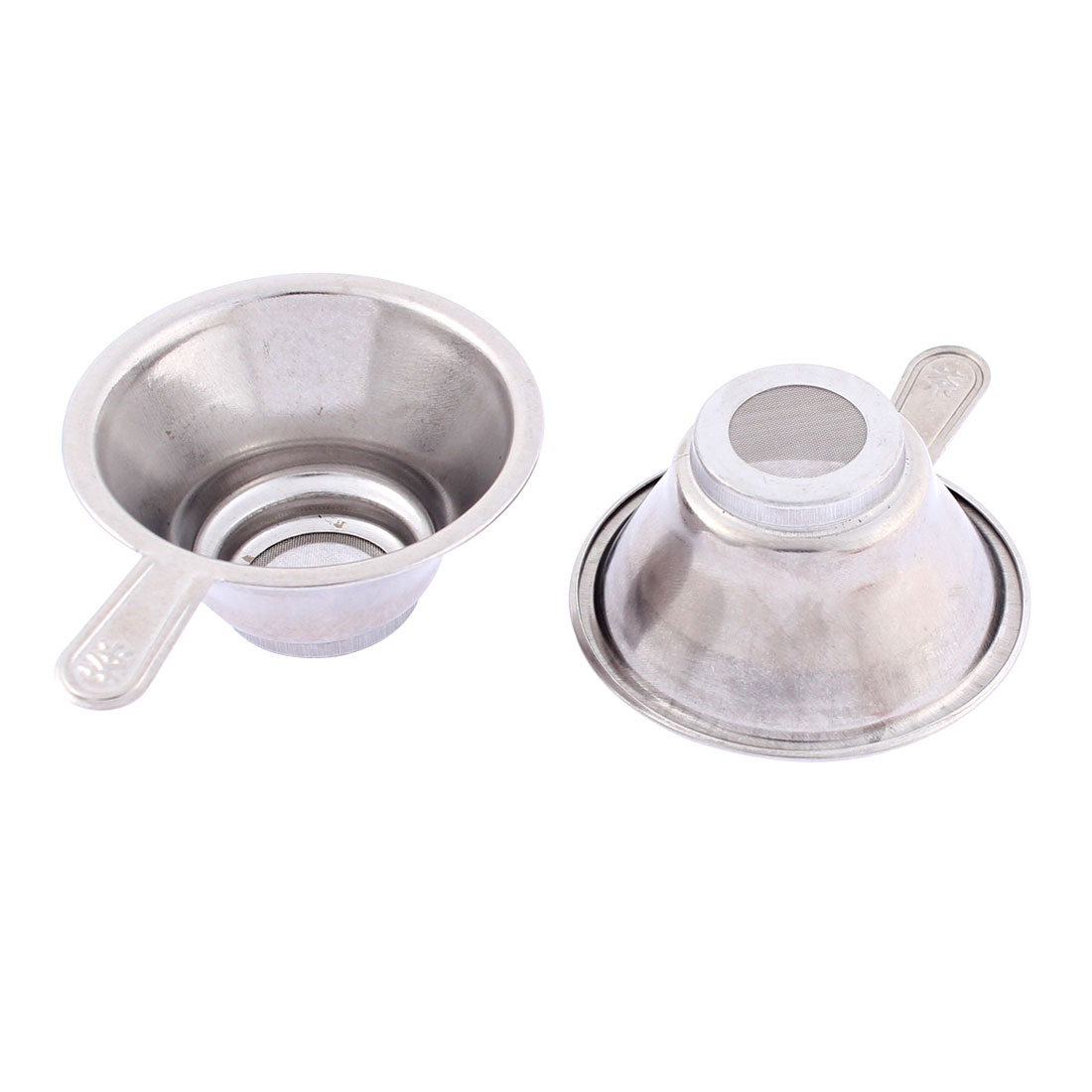 Home Stainless Steel Mesh Bottom Tea Bowl Strainer 67mm Dia 2 Pcs