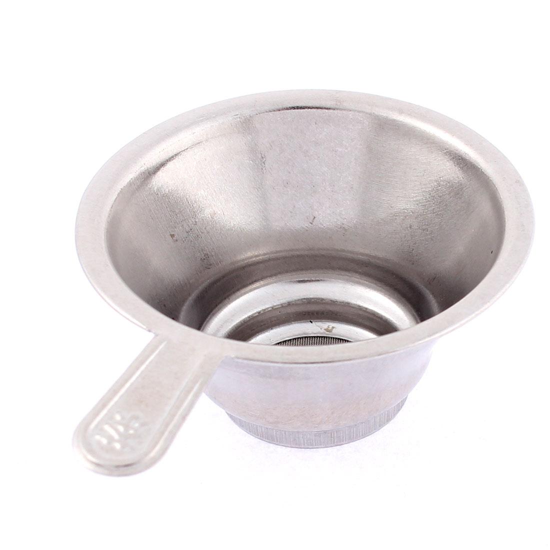 Household Stainless Steel Mesh Bottom Tea Bowl Strainer 67mm Dia