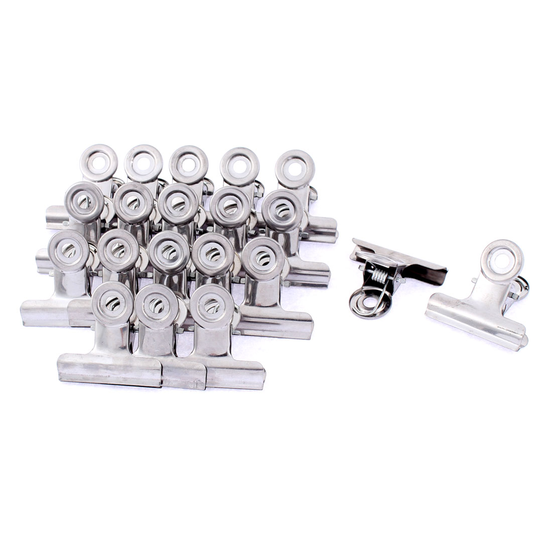 Stainless Steel Spring Loaded Clothes Pin Hanger 1.5 Inch Width 20 Pcs