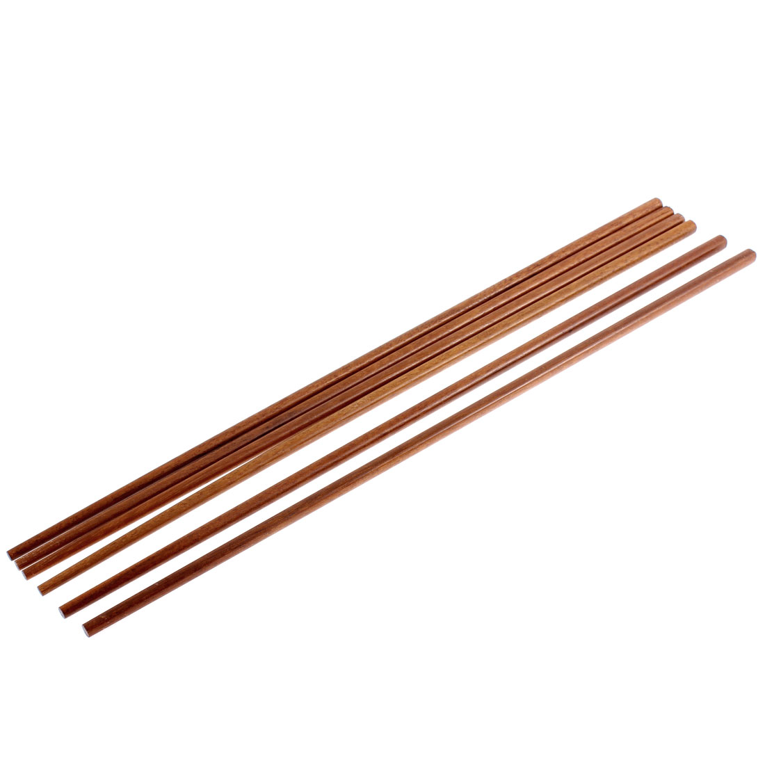 Noodles Cooking Wooden Chopsticks 16.5 Inch Length Brown 3 Pairs