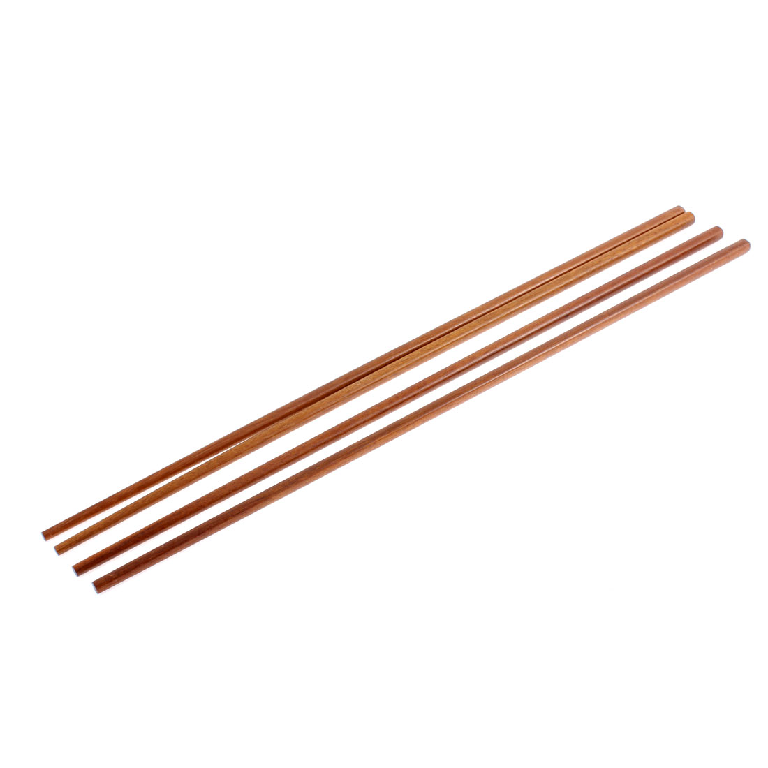 Household Noodles Cooking Wooden Chopsticks 42cm Length Brown 2 Pairs