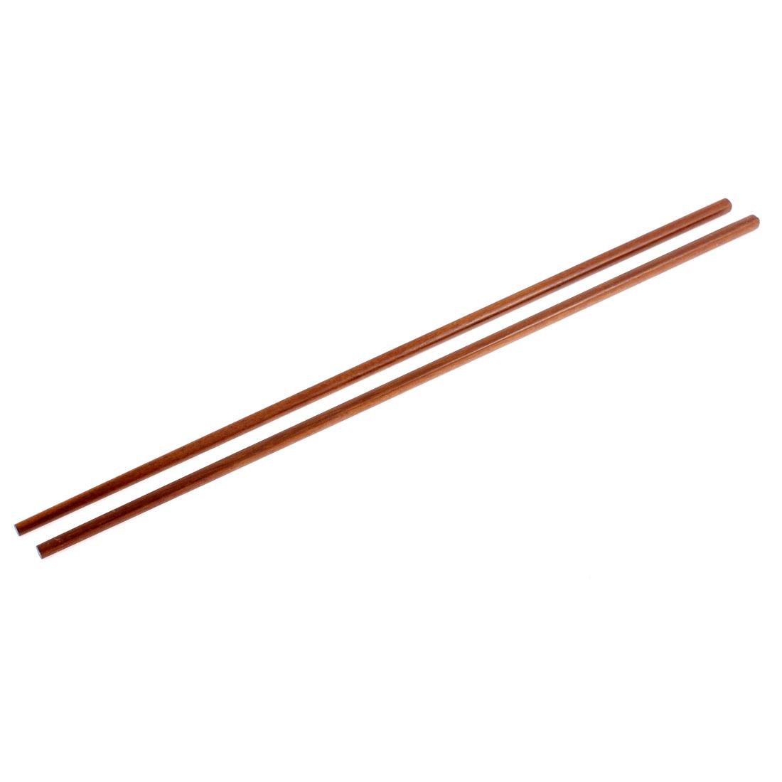 Kitchen Noodles Cooking Wooden Chopsticks 42cm Length Brown Pair