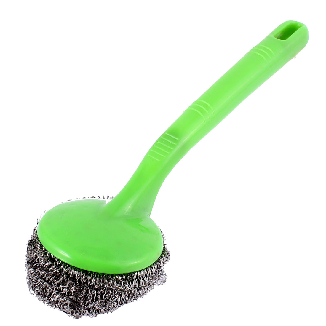 Household Pot Cleaning Steel Wire Ball Scourer Brush 23cm Length Green