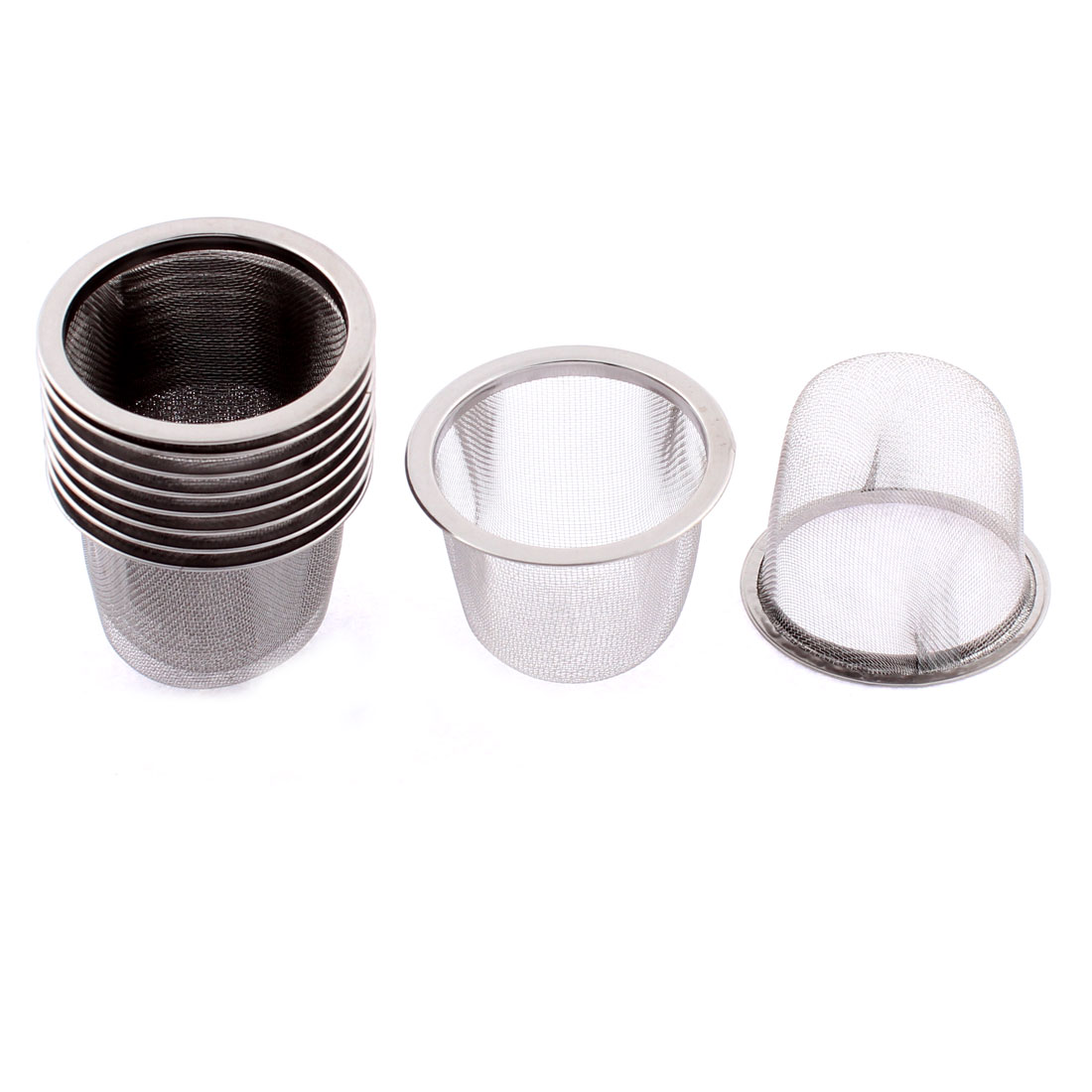 Stainless Steel Wire Mesh Tea Infuser Strainer Filter 60mm Dia 10 Pcs