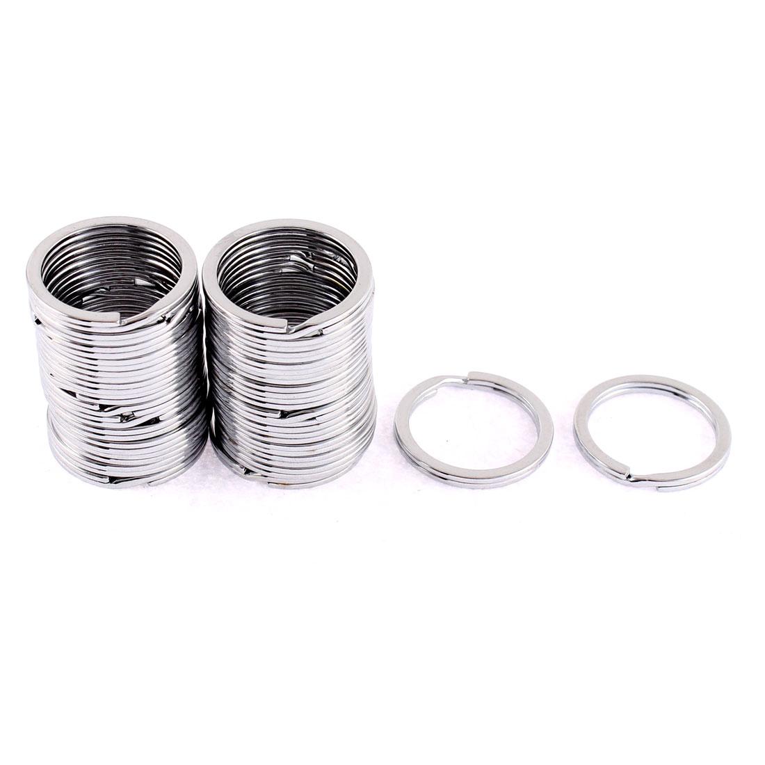 30 Pcs Metal Round Double Loop Split Key Rings 25mm Outside Dia