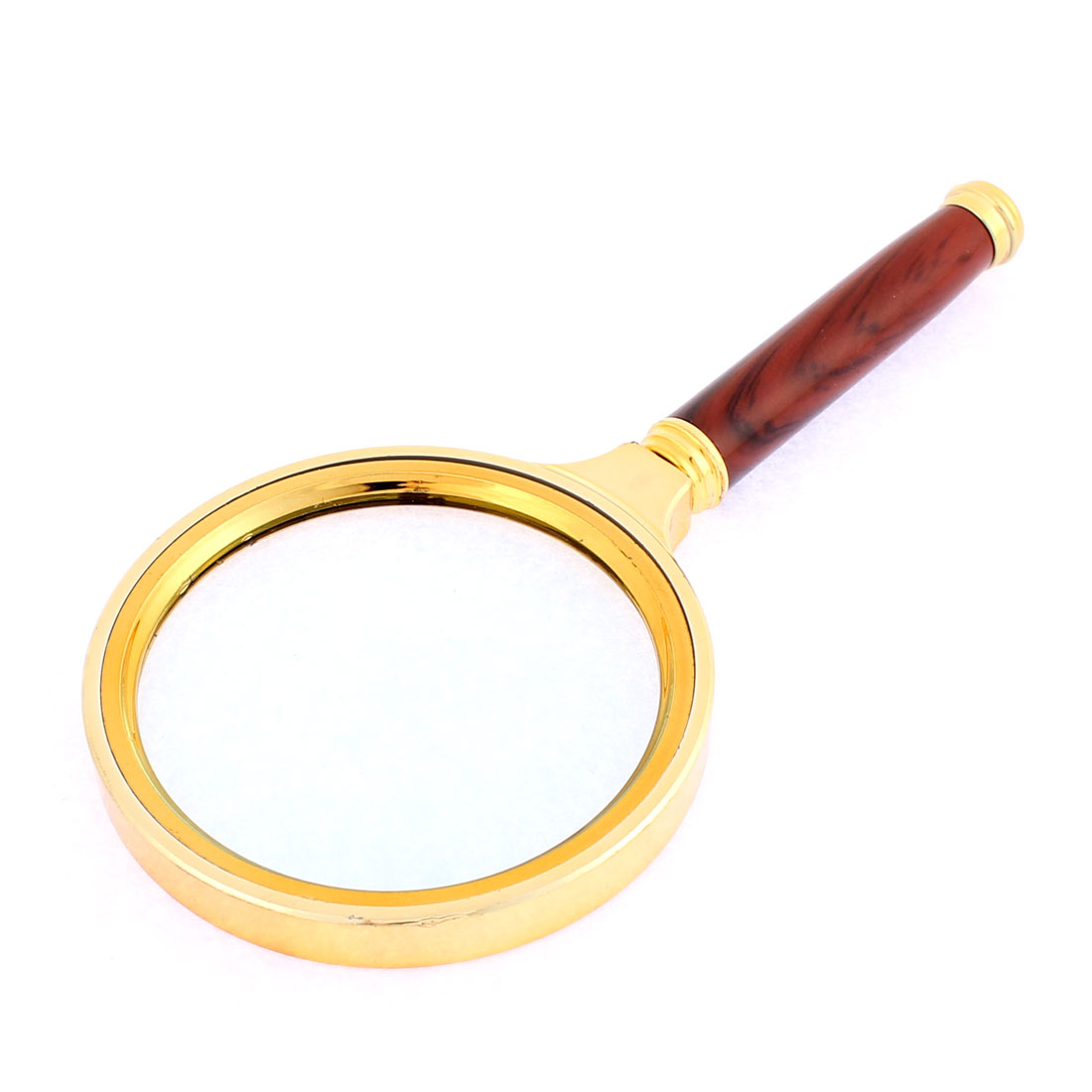 Handheld Metal Frame 5X Magnifier Magnifying Glass Jewelry Loupe 80mm Dia