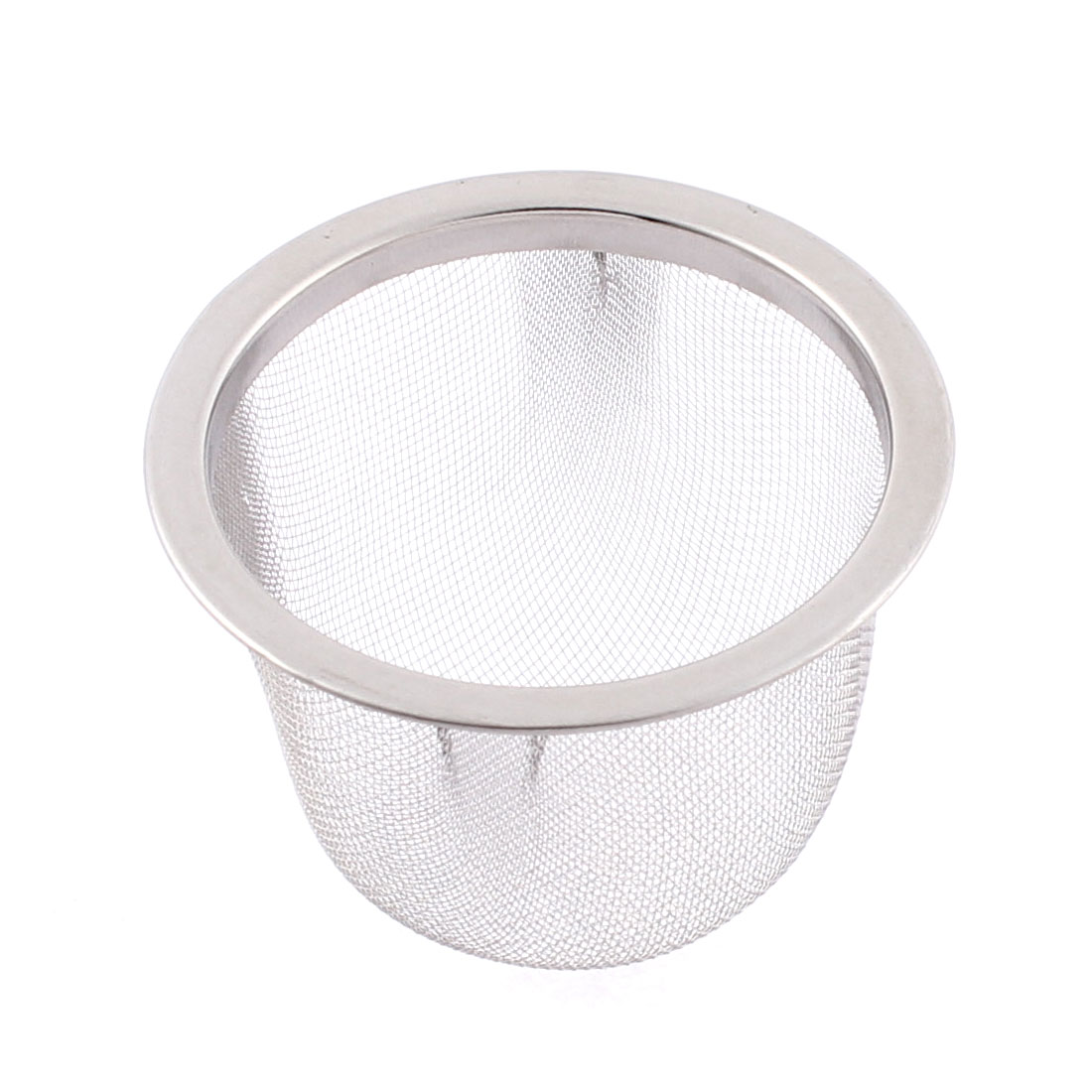 Home Stainless Steel Wire Mesh Tea Infuser Strainer Basket 63mm Dia
