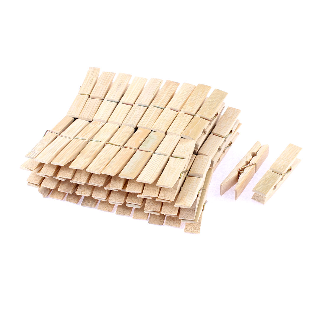 60pcs Wooden Photos Paper Laundry Hanging Clothes Pins 60mm Length
