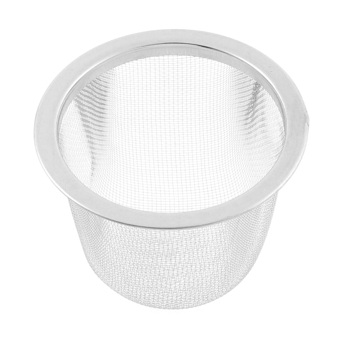 Household Stainless Steel Round Mesh Tea Infuser Strainer Basket 60mm Dia