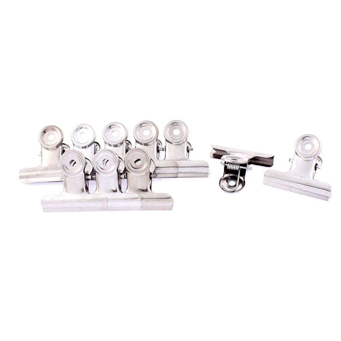 Stainless Steel Spring Loaded Clothes Pin Clips Hanger 2 Inch Width 10 Pcs
