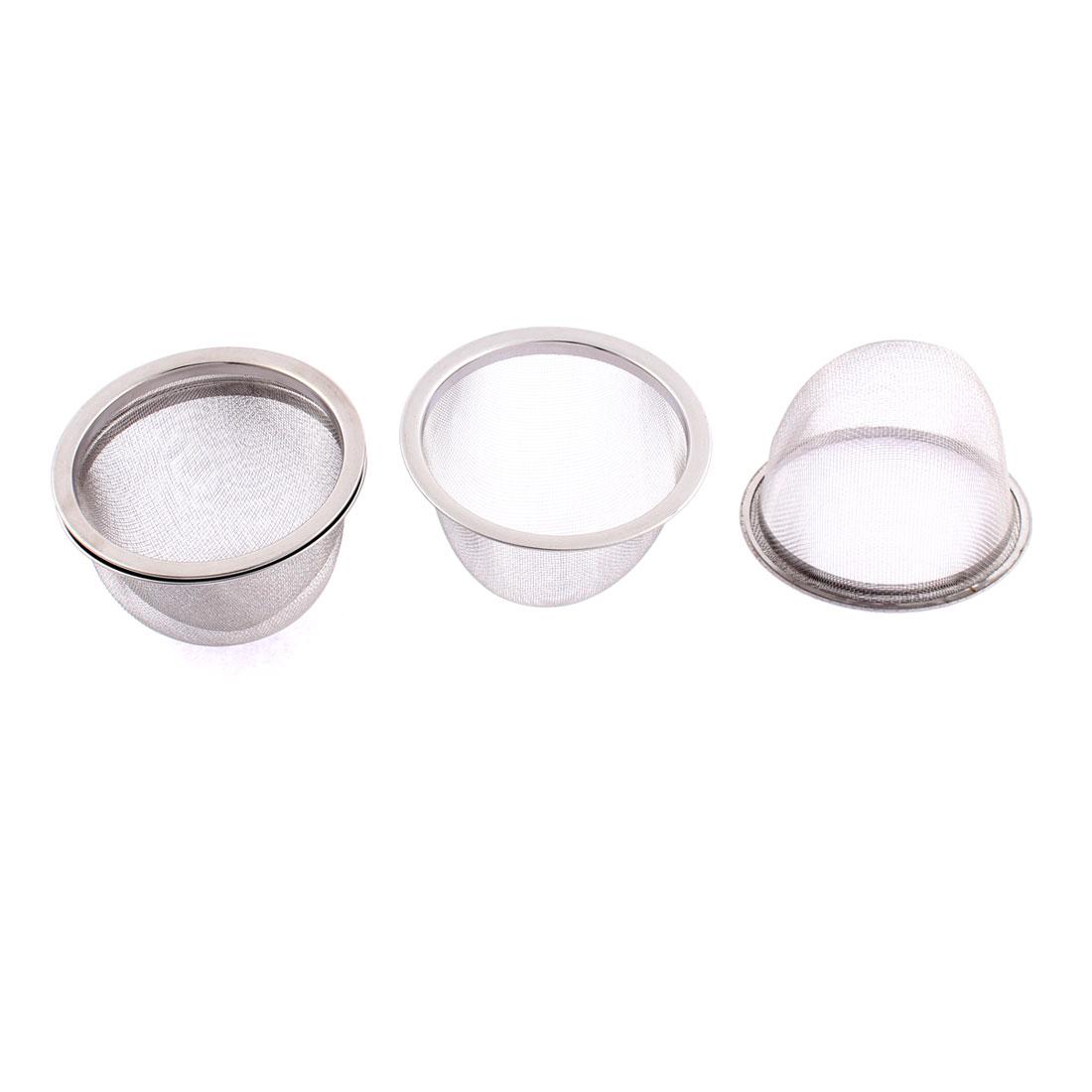 Household Stainless Steel Mesh Tea Infuser Strainer Basket 75mm Dia 4 Pcs