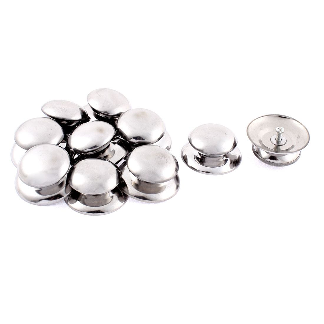 Home Stainless Steel Pan Pot Cover Lid Knob Handle 57mm x 45mm 10 Pcs