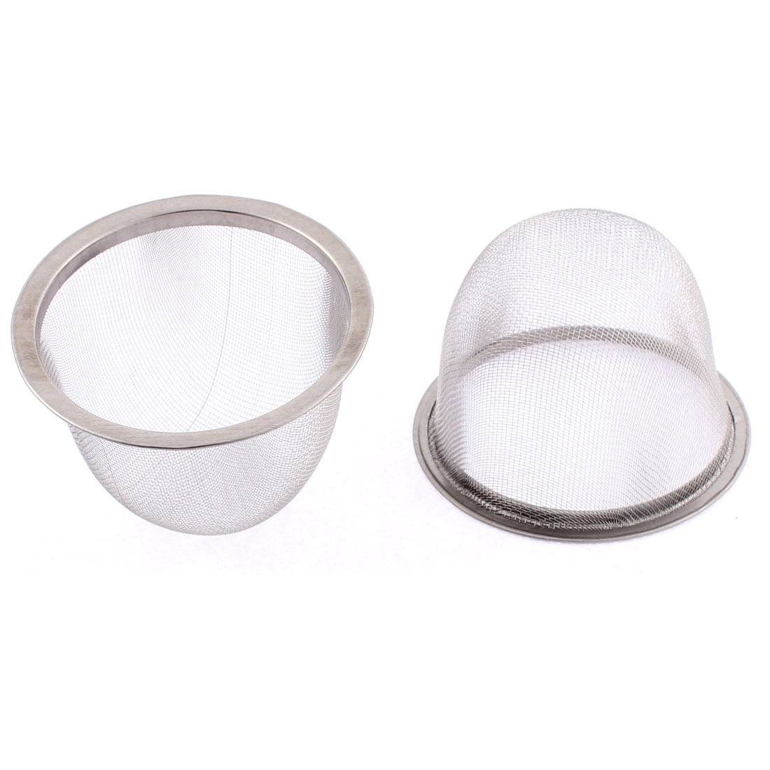 70mm Dia Stainless Steel Wire Mesh Tea Infuser Strainer Basket 2 Pcs