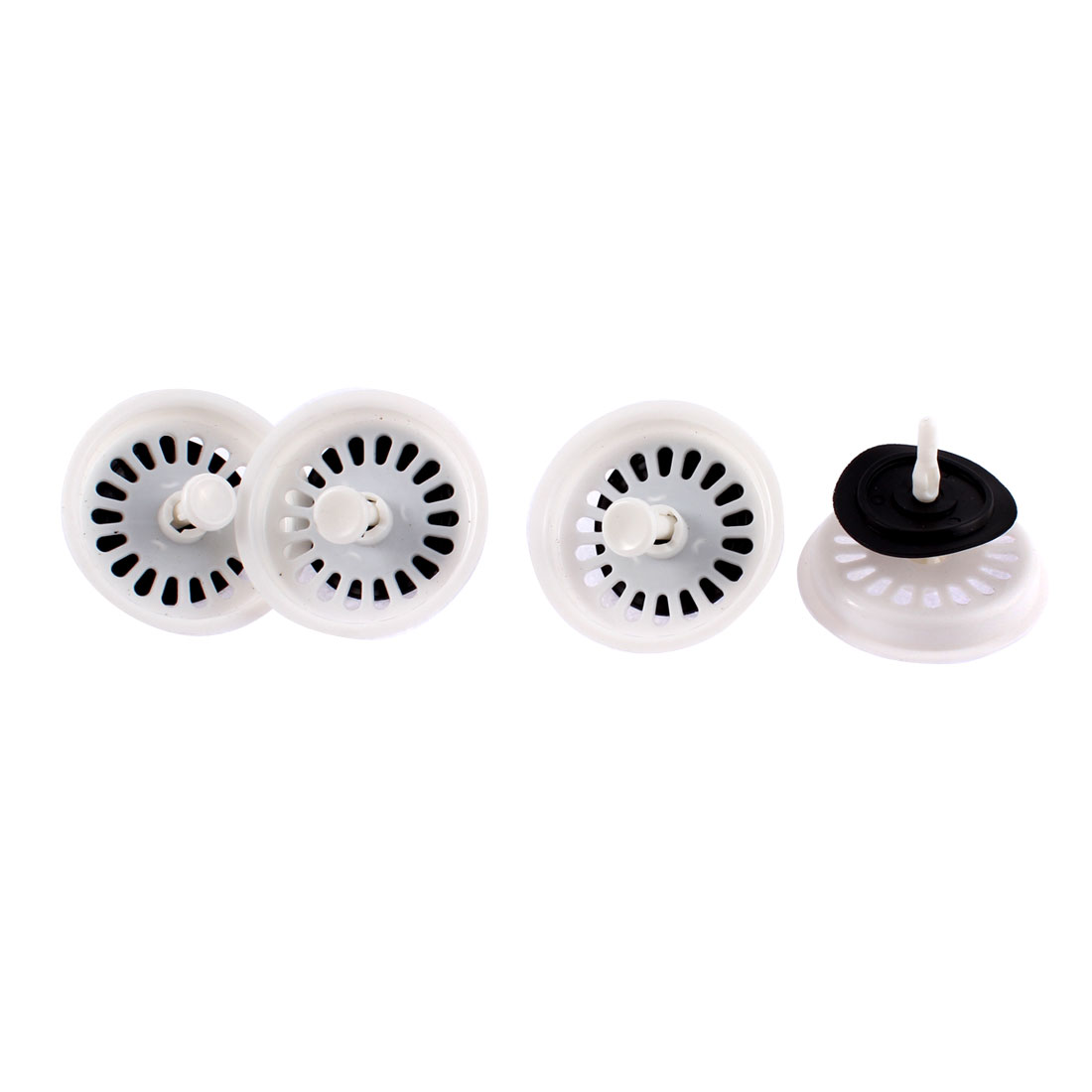 4 Pcs Houshold Flat Bottom Ring Sink Strainer Filter Stopper 80mm Dia