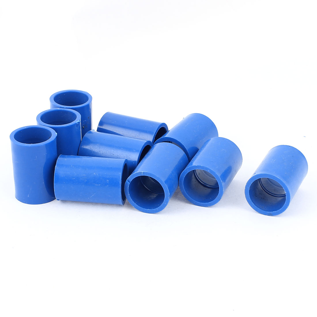 10Pcs 20mm Inner Dia U-PVC Straight Water Pipe Hose Joint Connector Blue