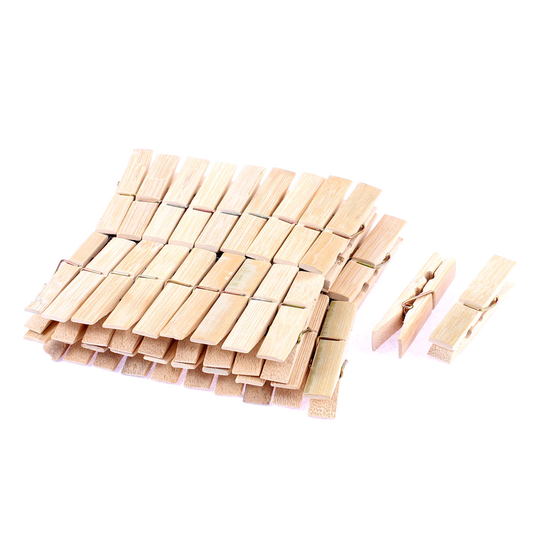 40pcs Wooden Photos Crafts Laundry Hanging Clothes Pins 6cm Length