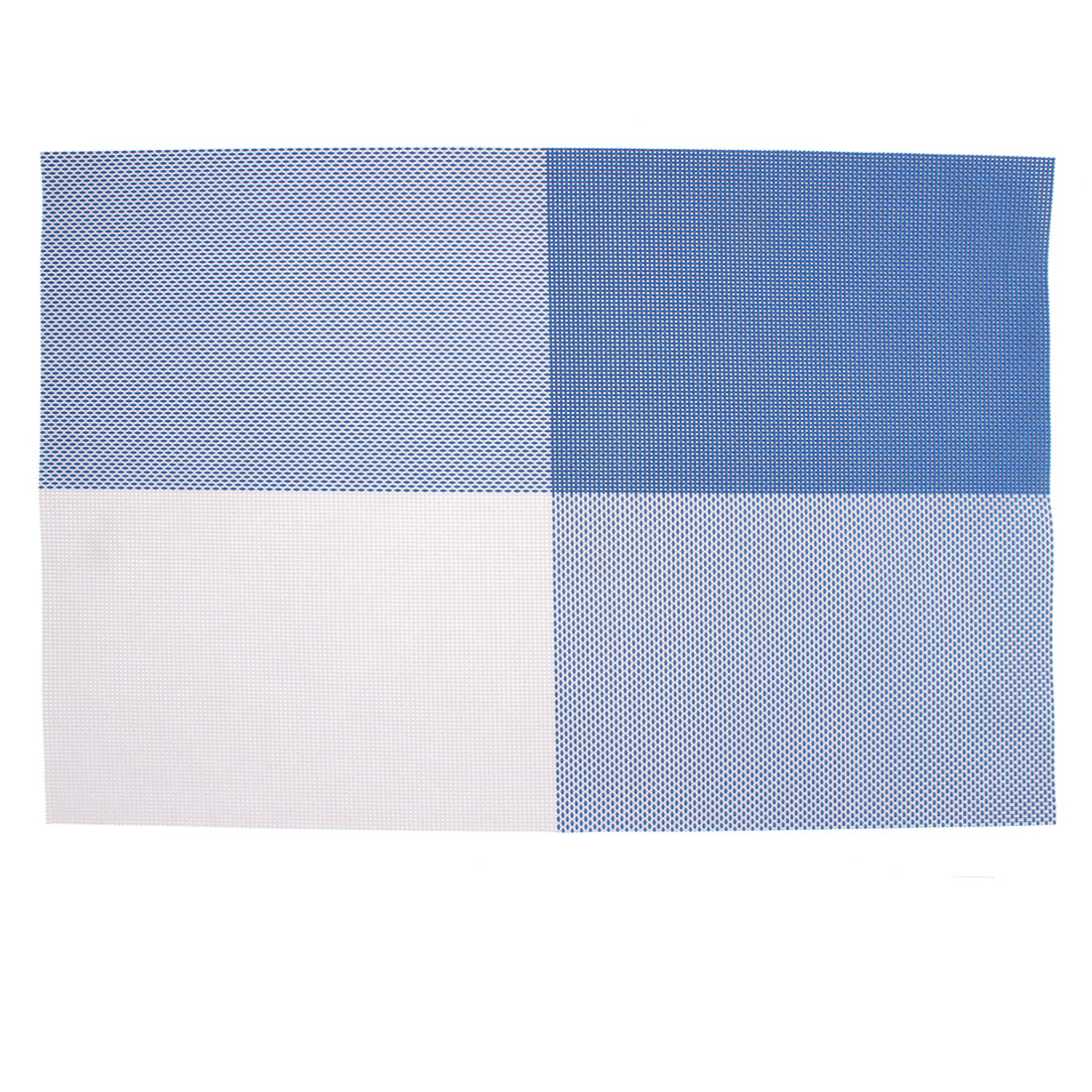 Blue PVC Dining Table Placemat Weave Woven Mats Coaster