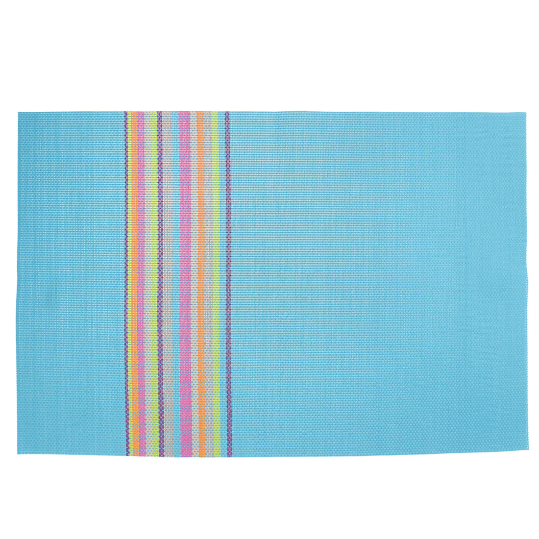 Blue PVC Handmade Weave Stripe Dining Table Mat Placemat Coaster