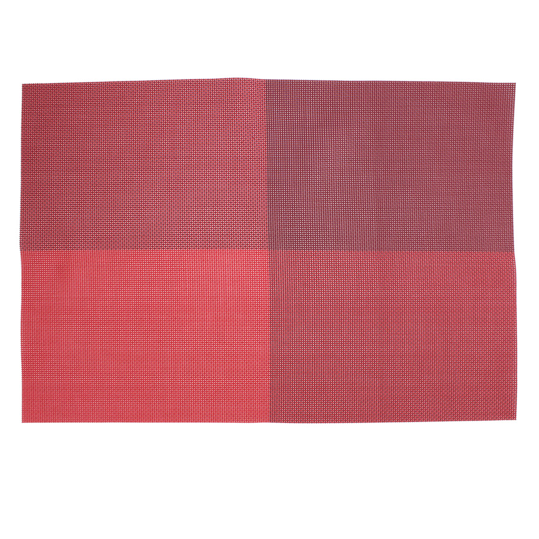 Red PVC Dining Table Placemat Weave Woven Mats Coaster