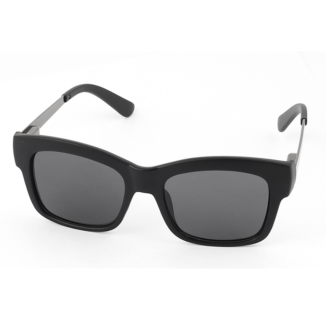 Unisex Full Rim Single Bridge UV400 Protection Black Lens Sunglasses