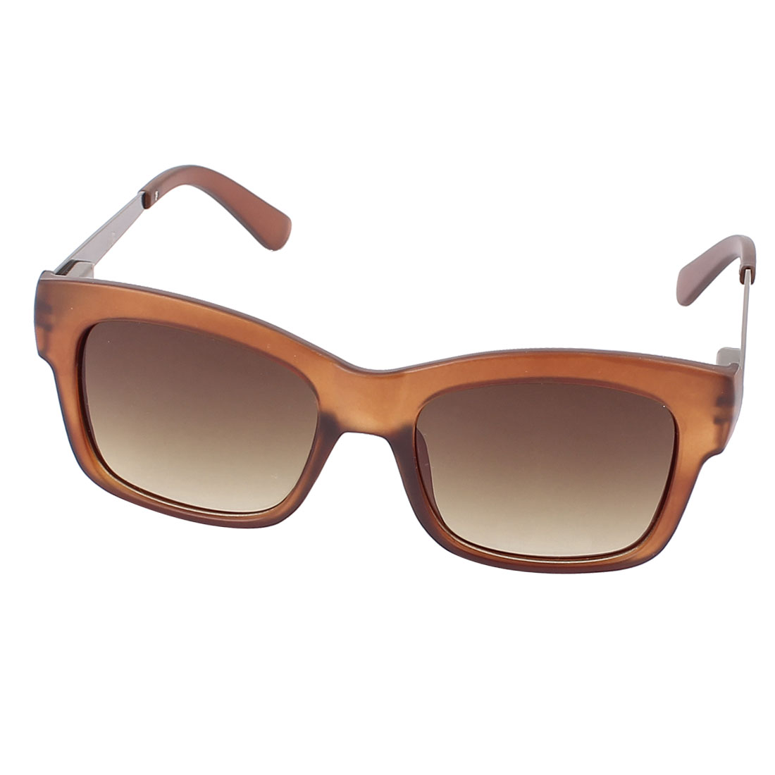 Outdoor Single Bridge Gradient Brown Lens UV400 Protection Sunglasses