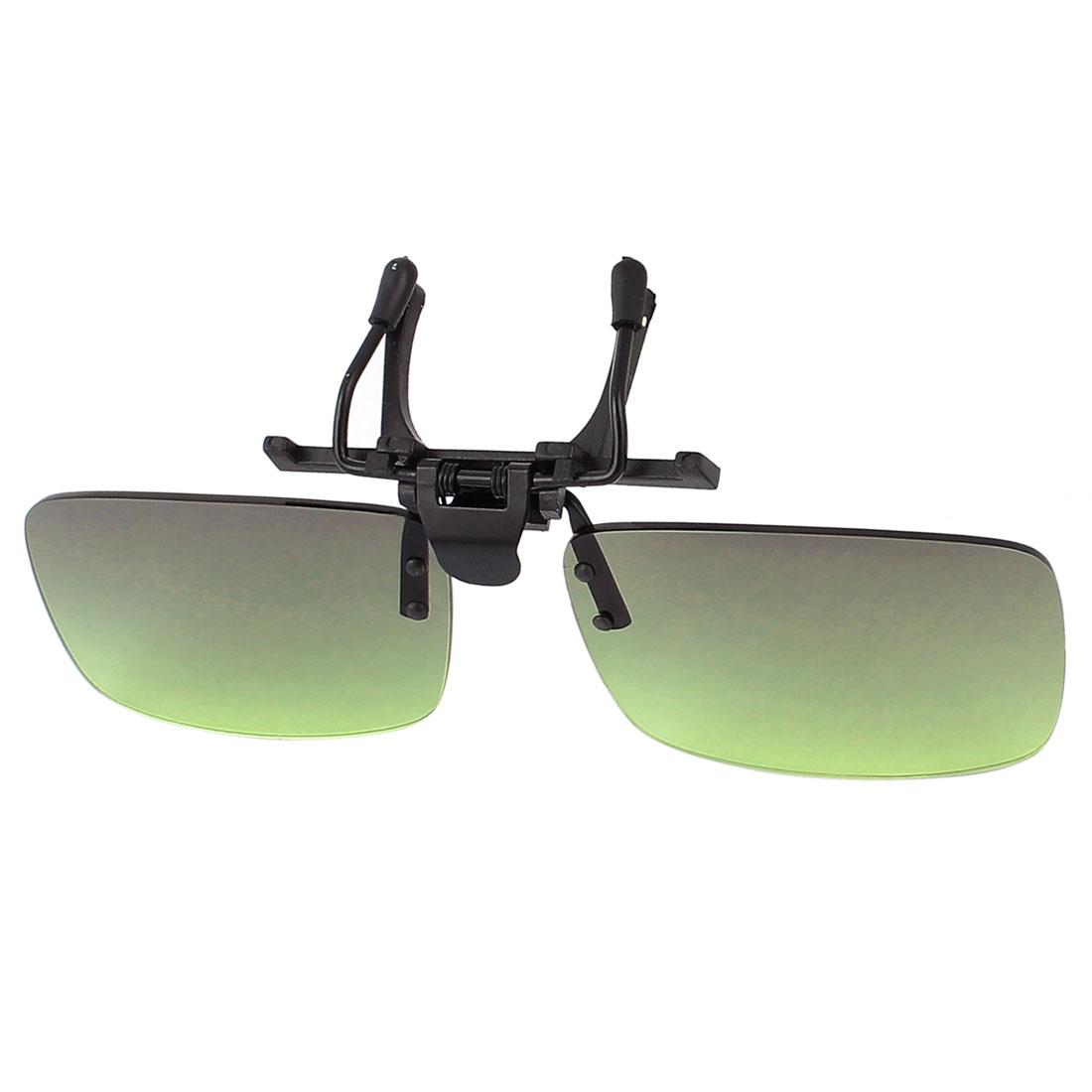 Green Lens Rimless Anti Glare Clip On Driving Sunglasses Eyeglasses 122 x 33mm