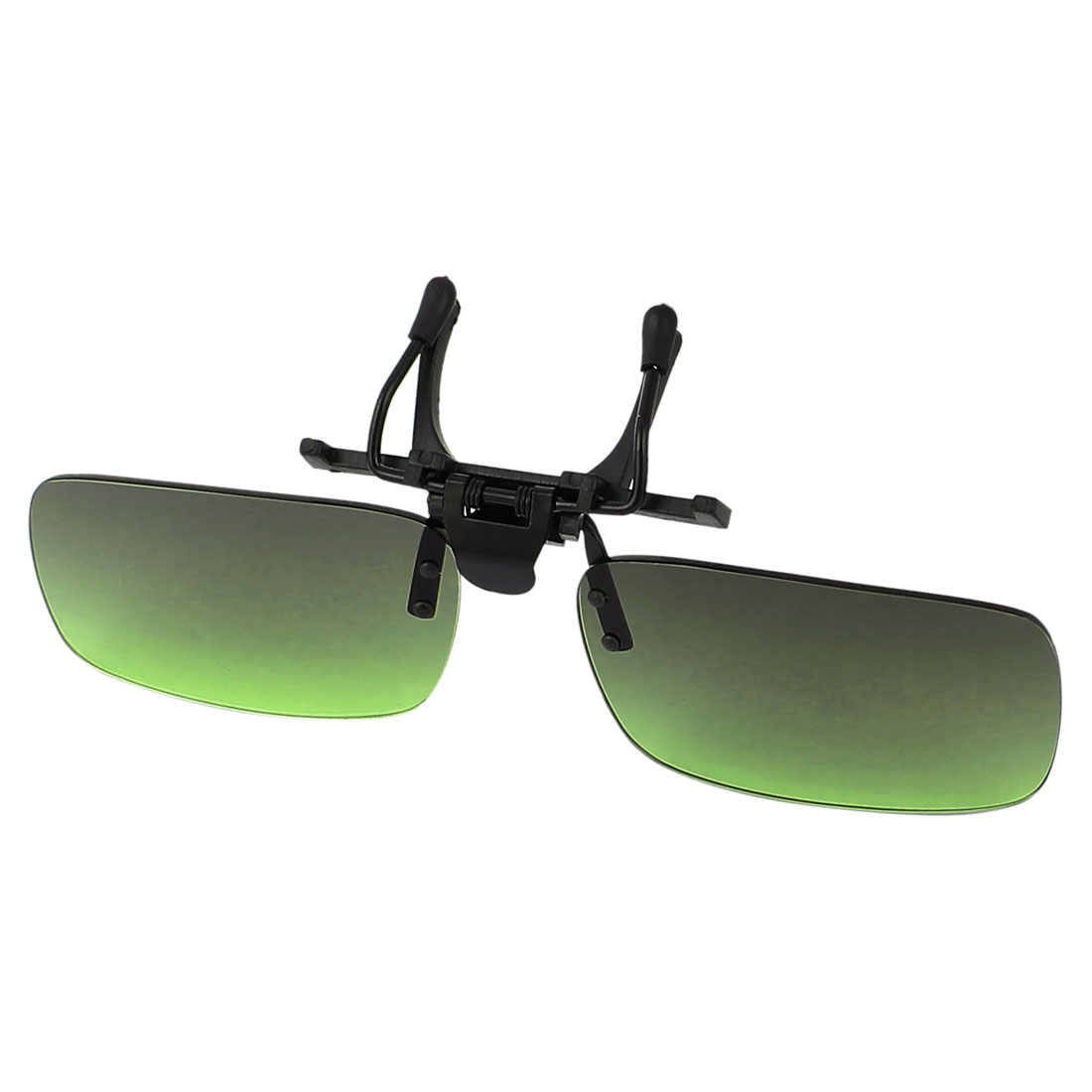 Green Lens Rimless Anti Glare Clip On Driving Sunglasses Eyeglasses 128 x 33mm