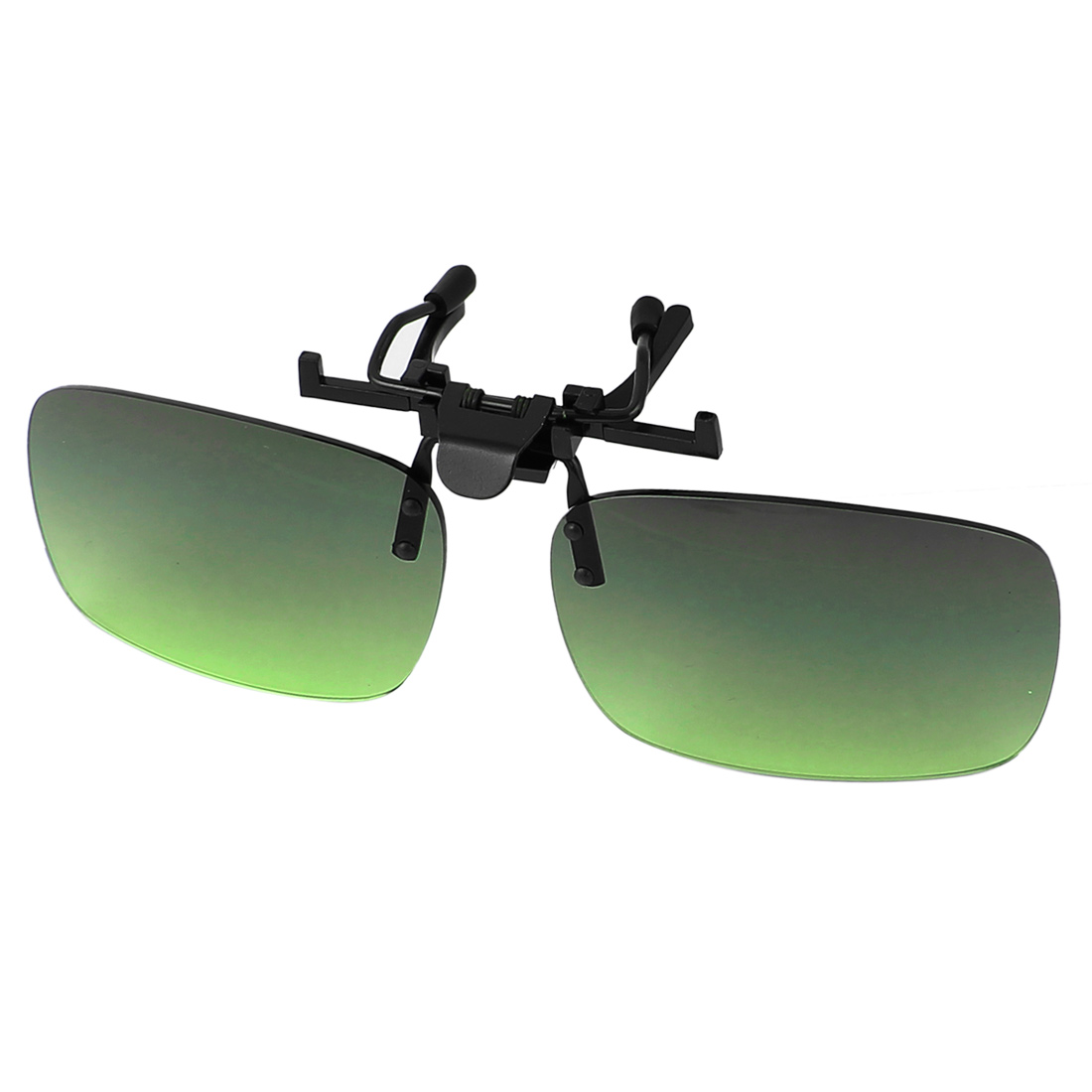 Green Lens Rimless Anti Glare Clip On Driving Sunglasses Eyeglasses 132 x 39mm