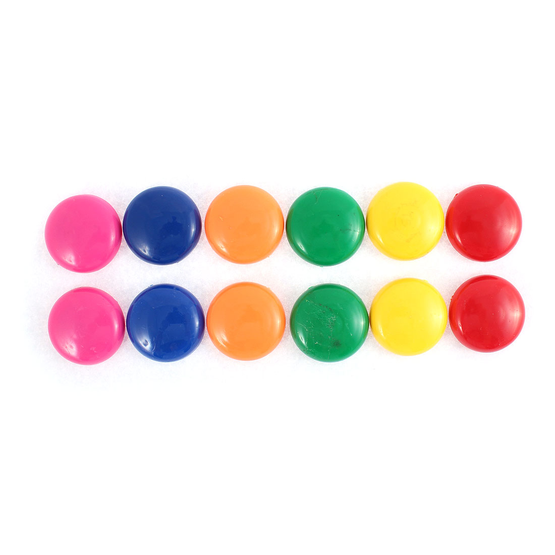 12PCS Round 30mm Diameter Plastic Multicolored Whiteboard Fridge Magnet