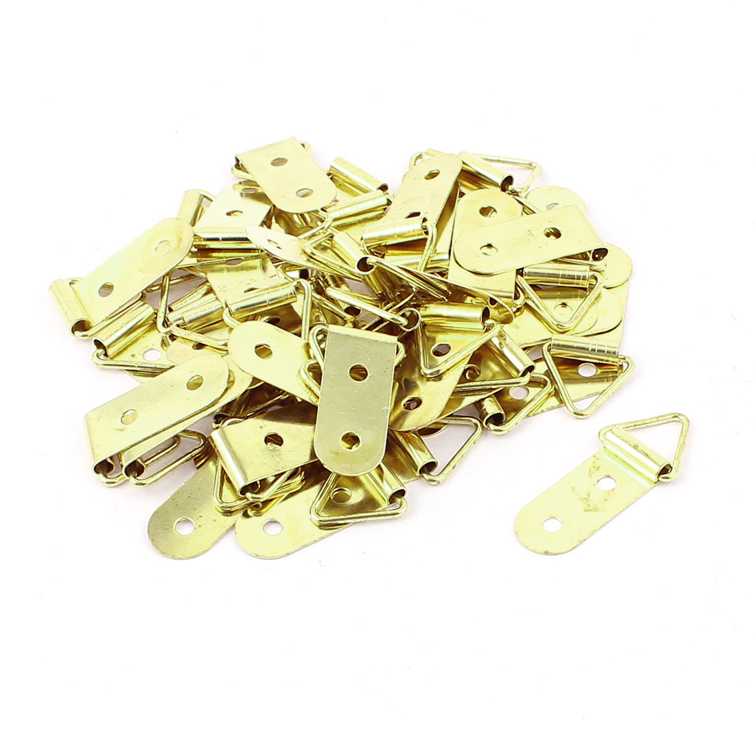 50Pcs 3.7x1.5cm Double Hole Triangle Rings Picture Frames Hanger Hooks