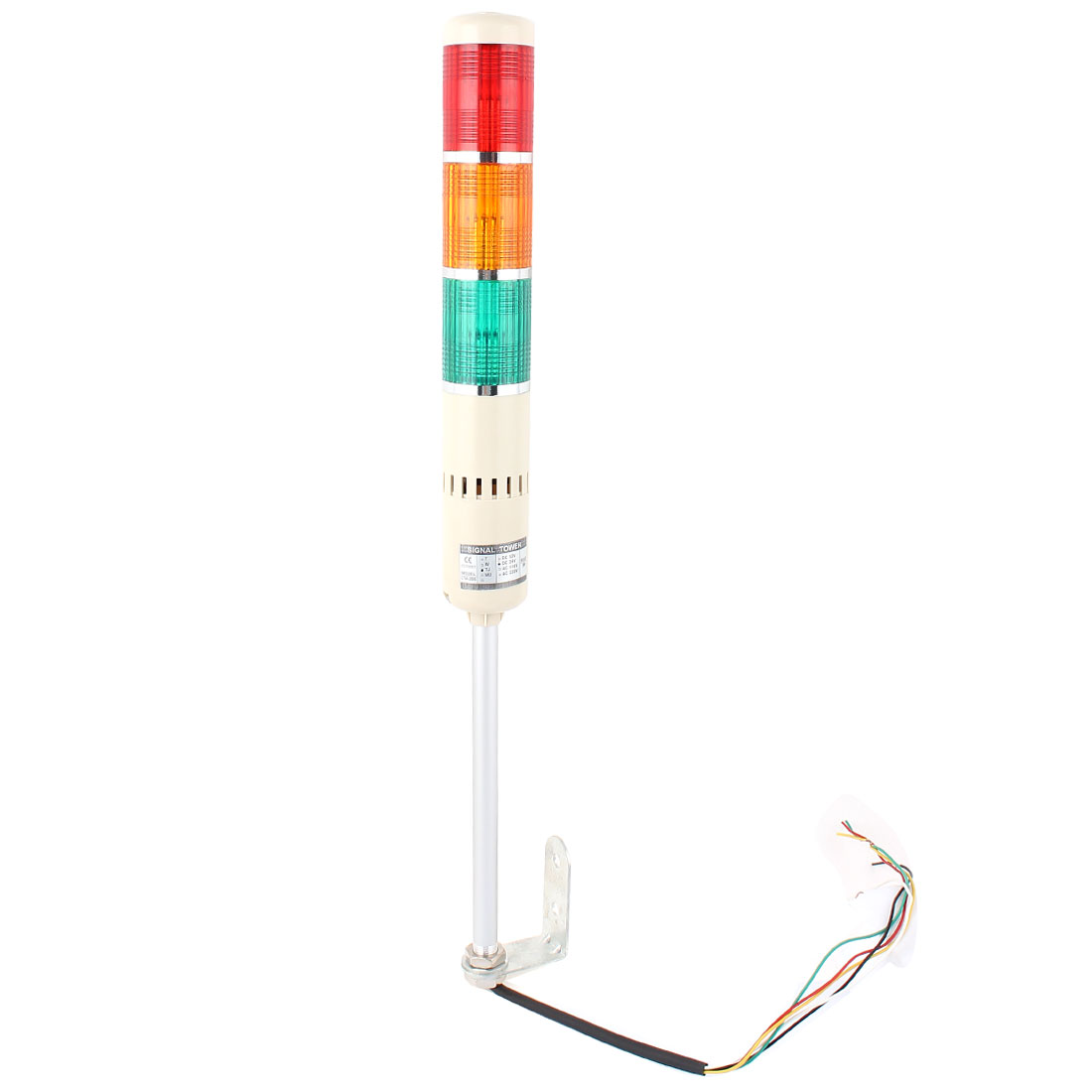 DC 24V Red Green Yellow Buzzer Sound Warning Stack Lamp Alarm System Indicator Industrial Signal Tower Light