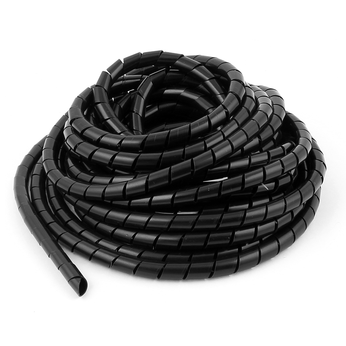 3pcs 25ft 8Meters 10mm x 8mm Black Flexible Wire Spiral Wrap Sleeving Band Tube Cable Manager Protector