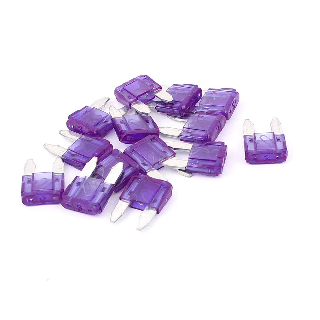 Mini Wedge Auto Car Boat Taxi Truck Standard ATO Fuse Purple 3A 14pcs