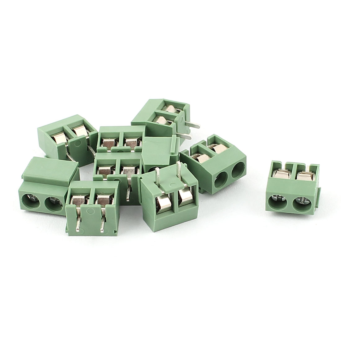 10 Pcs 2 Position 5.0mm Pitch Male Plug PCB Screw Terminal Block AC 250V 8A