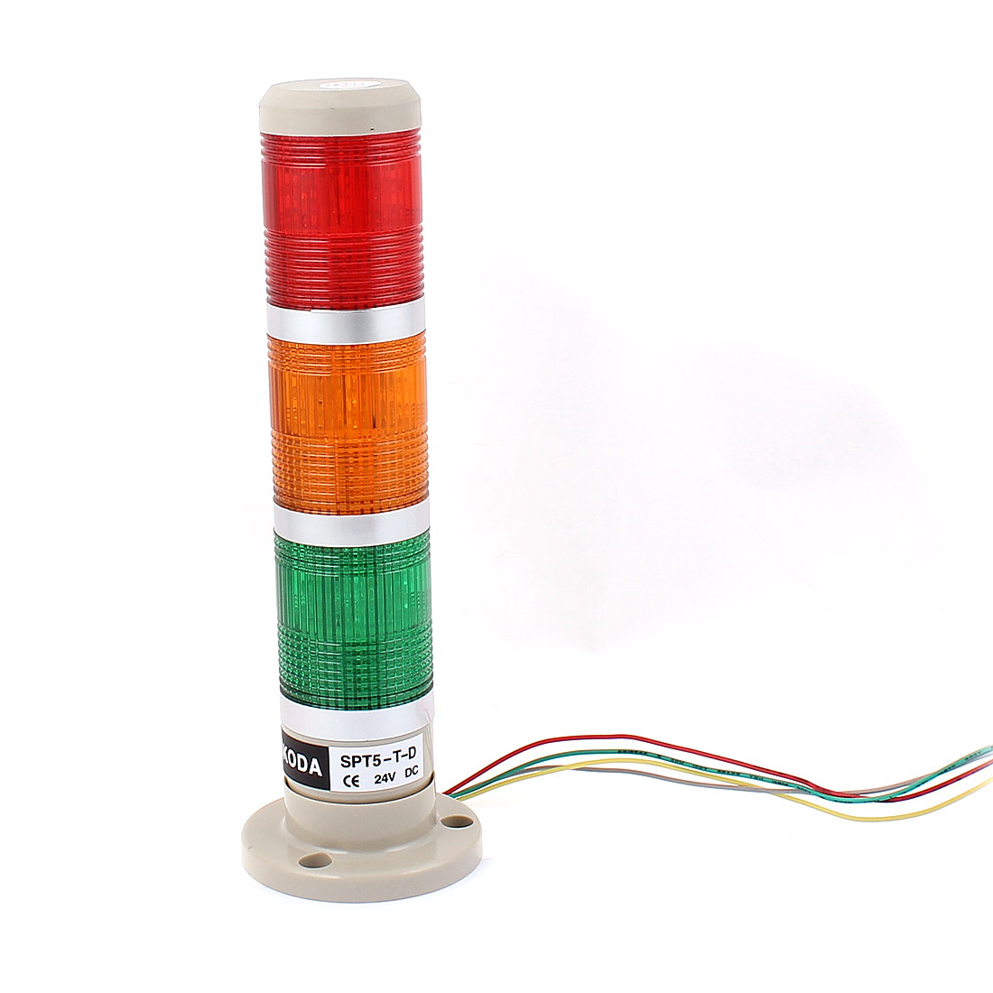 DC 24V 3 Bulbs Red Green Yellow Warning Stack Lamp Industrial Signal Tower Light