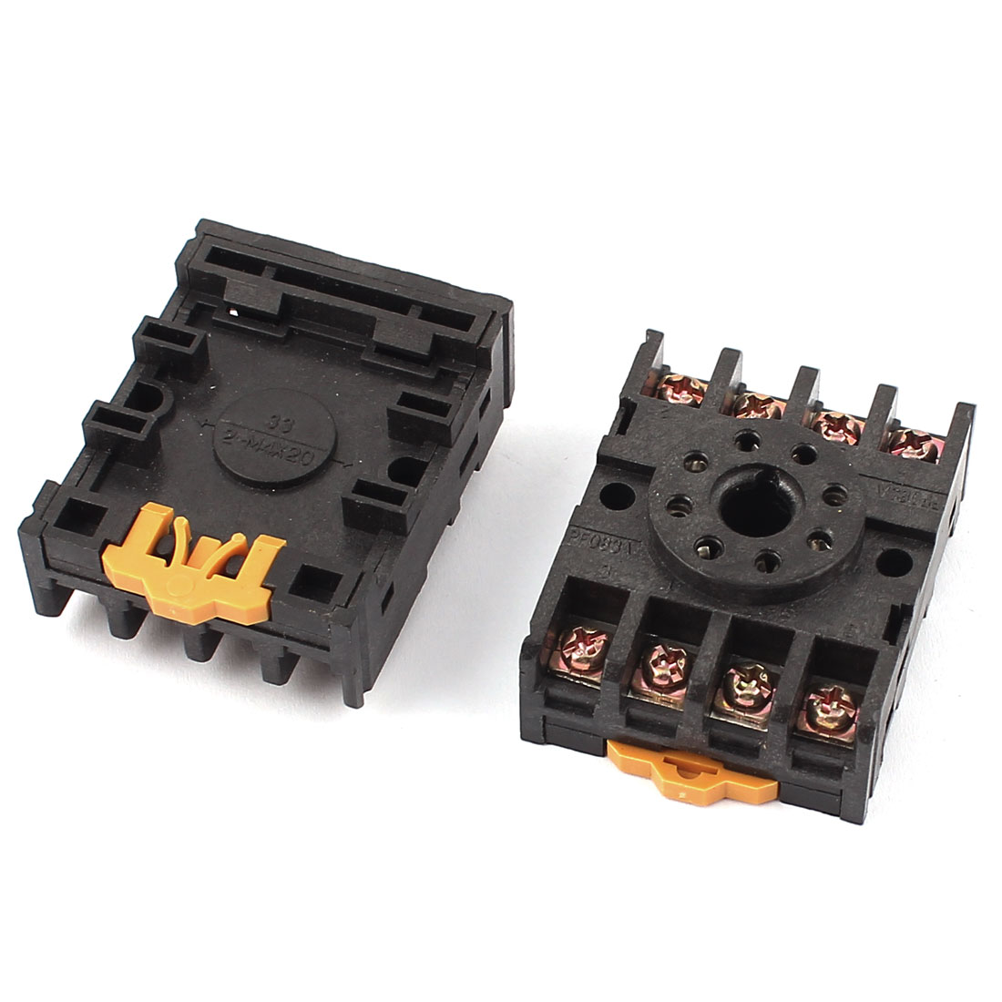 2Pcs PYF083A 8 Terminals Power Timer Relay Socket Base Holder for JTX-2C DH48S