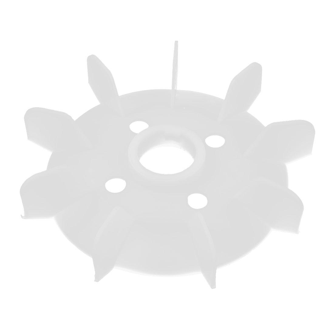 50mm Center Bore White Plastic Machine 7-Impeller Motor Fan Paddle