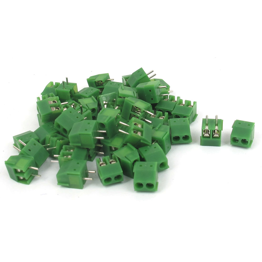 50 Pcs 300V 16A 3mm Pitch 2P 2 Position PCB Terminal Block Connector