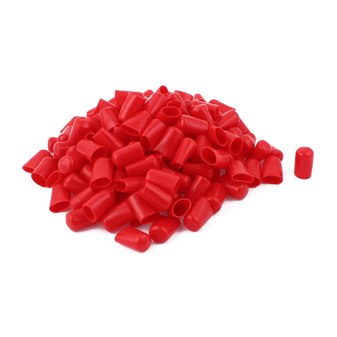 160 Pcs 16mm Flexible Red Vinyl Insulated End Caps Covers Protectors Sleeves
