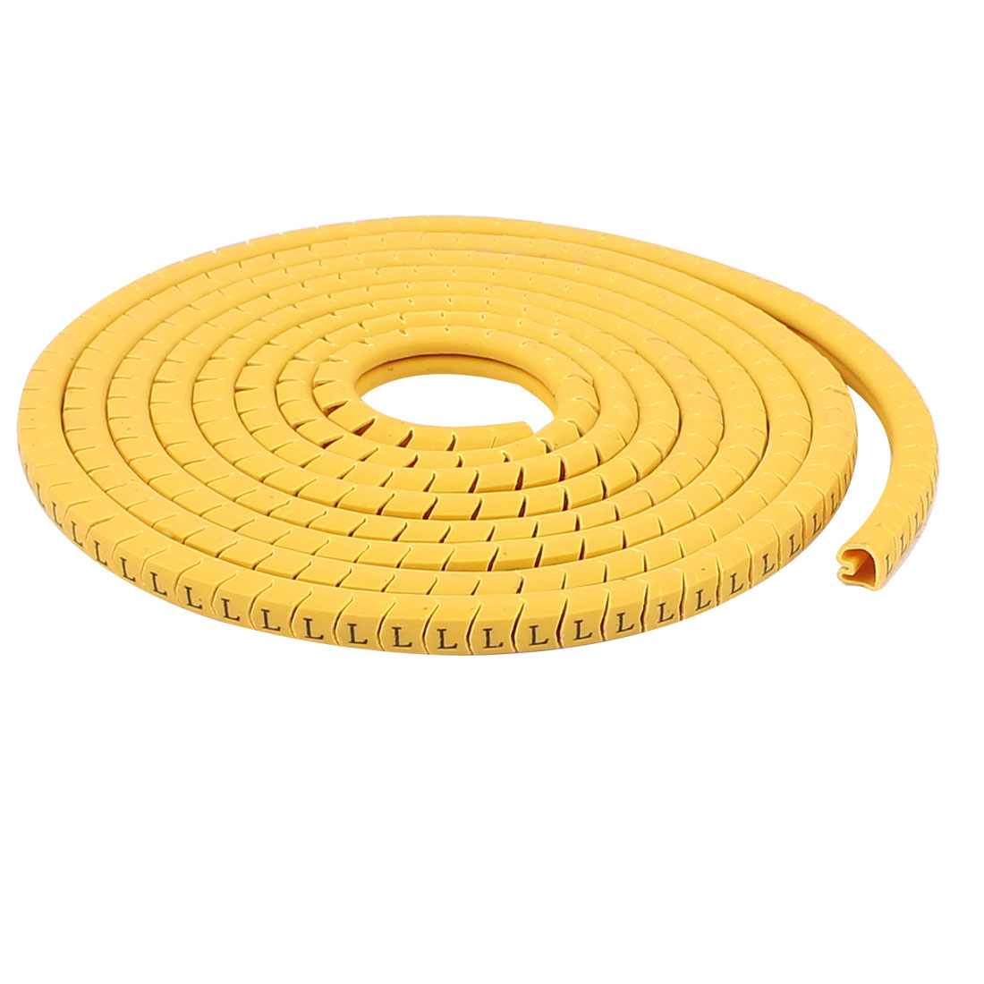 2.5mm2 Wire Yellow PVC Concave Conversed Shaped Letter L Pattern Cable Markers Labels Strips 2Pcs