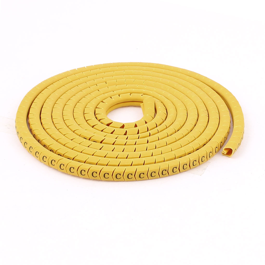 330 Pcs Yellow PVC Letter C Pattern Cable Markers Labels Tags Tubes Sleeves for 2.5mm2 Wire