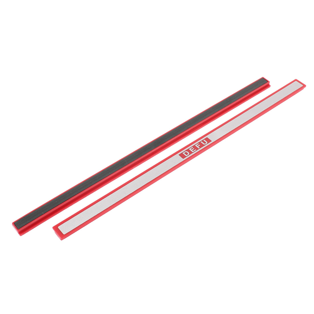 School Whiteboard Red Silver Tone Magnetic Stripes Bars 30cm 2 Pcs