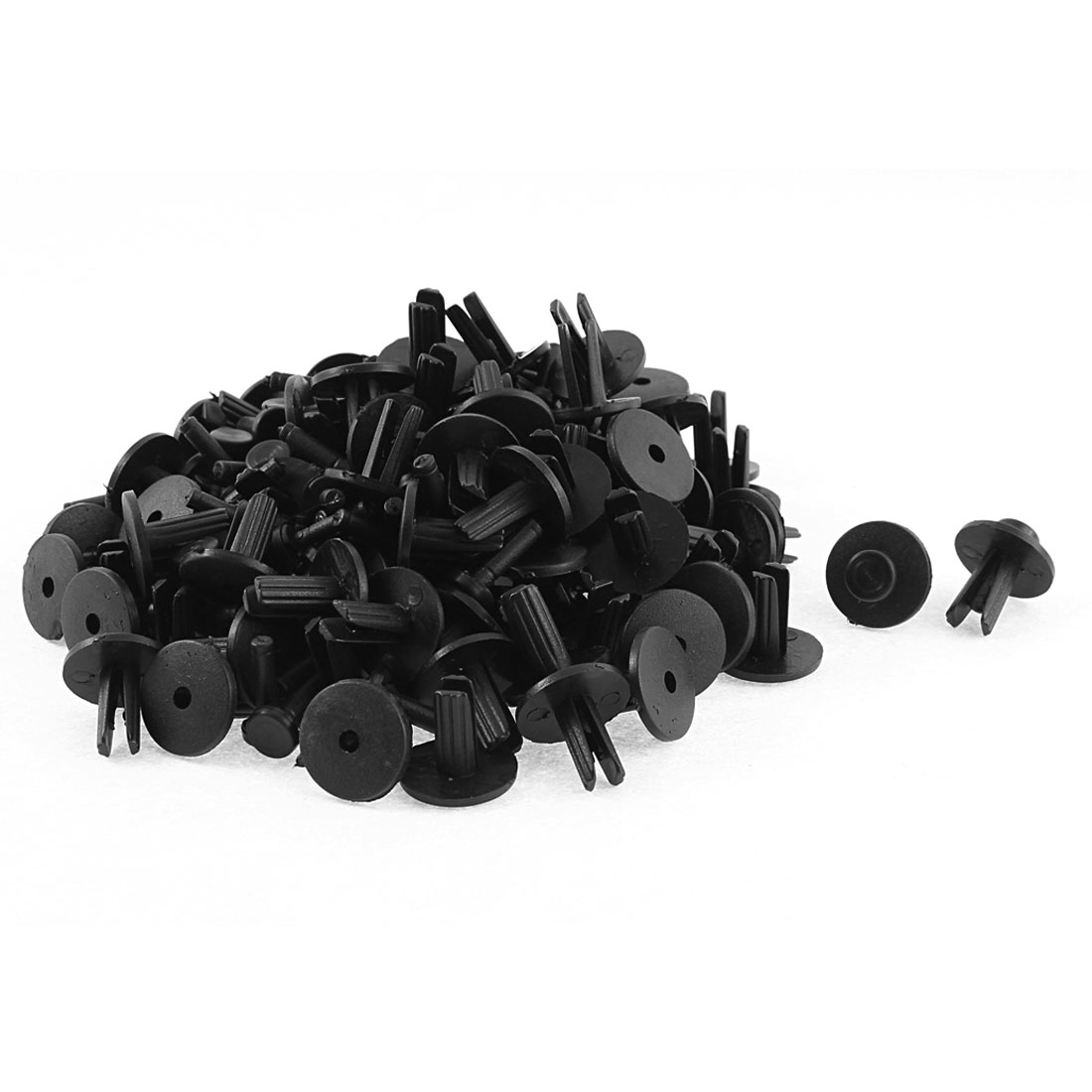 100 Pcs 18mm Head Dia Plastic Push-Type Defender Door Bumper Retainer Clip Rivets