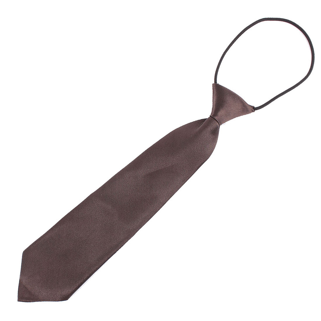 Coffee Color Polyester Elastic Slim Necktie Neck Tie for Child