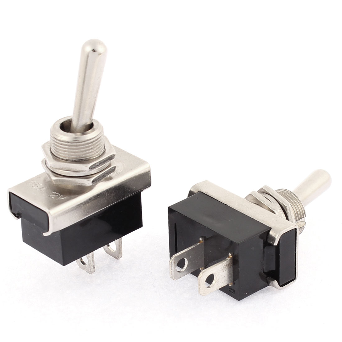DC 12V 25A Car Automobile On/Off 2 Position Toggle Switch 2 Pcs